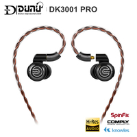 DUNU DK3001 PRO HiFi Audio 5 Hybrid Driver(1DD+ 4 Knowles BA) In ear Earphone MMCX Detachable cable 2.5/3.5/4.4 Balanced connect