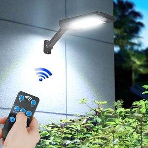 Lampy słoneczne zewnętrzna lampa ścienna czujnik ruchu nocne bezpieczeństwo 48 72 LED wodoodporne energooszczędne oświetlenie ogrodowe frontowe drzwi