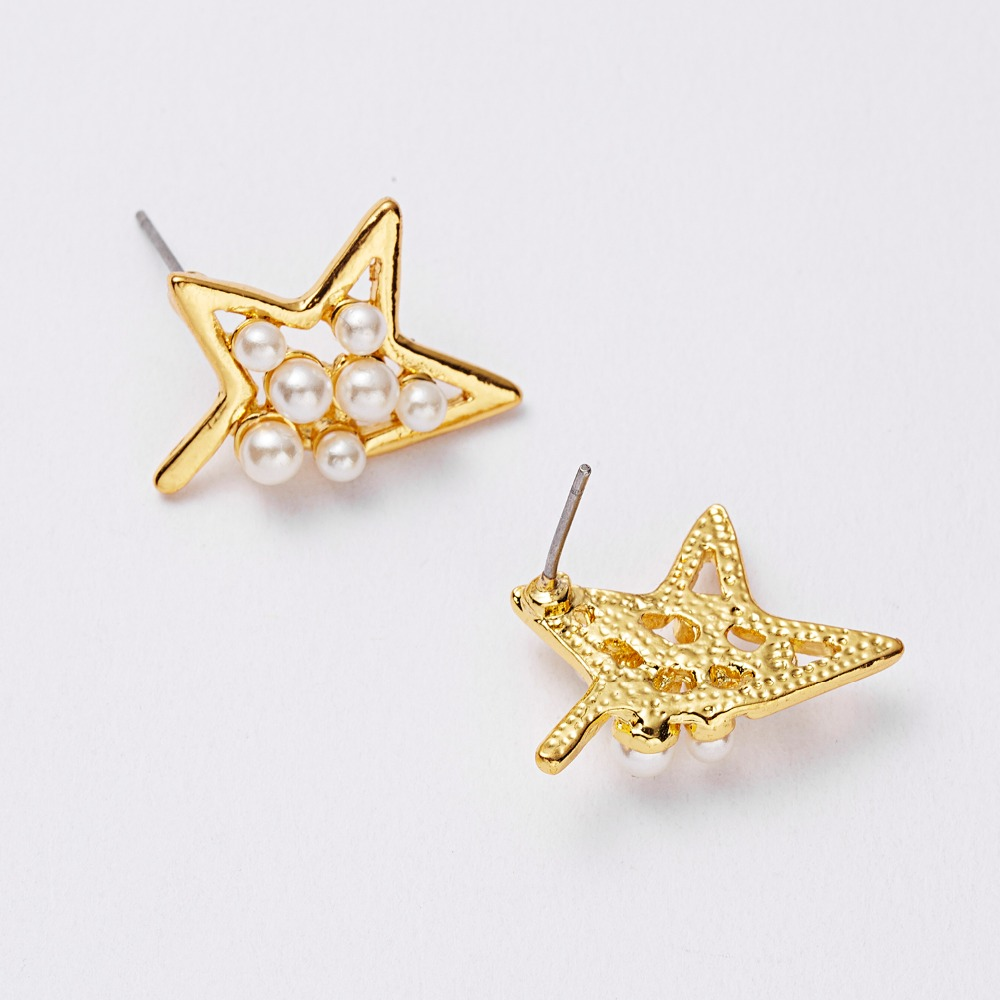 12 Pairs/set Stud Earrings Set With Card Transparent Zircon Balls Love Flowers Earrings Women Imulated Pearl Earrings Jewelry 103