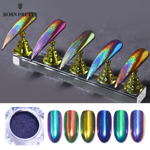 Image 1 - 0.2g Peacock  Chameleon Nail Glitter Powder Mirror Laser Chrome Pigment  Nail Art Decorations