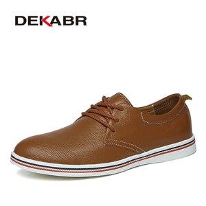 Image 5 - DEKABRขนาด 38 ~ 47 รองเท้าผู้ชายBreathableรองเท้าผ้าใบแฟชั่นMasculinoหนังแท้รองเท้าZapatos Hombre Sapatosรองเท้าผู้ชาย