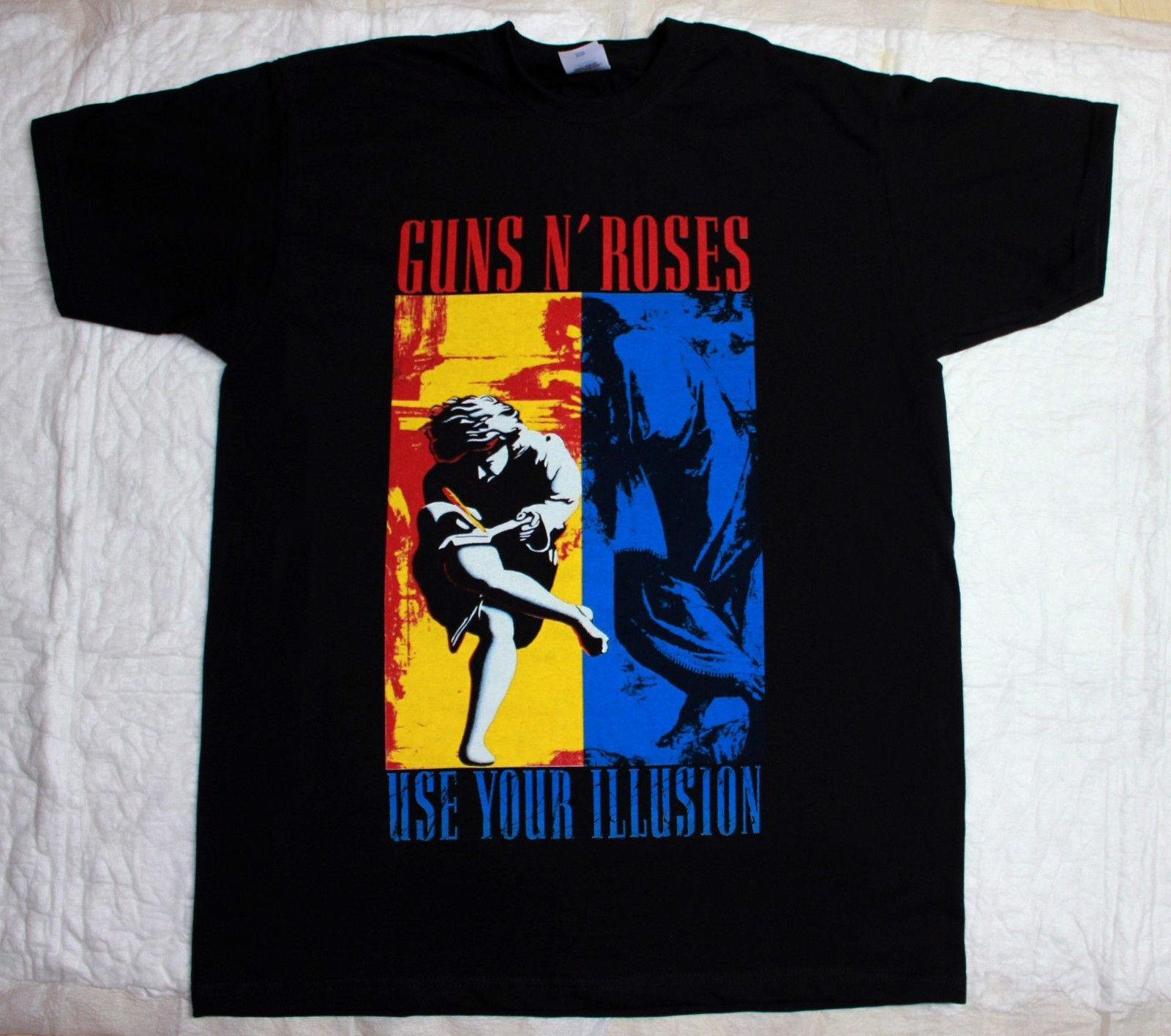 GUNS N ROSES USE YOUR ILLUSION AXL ROSE SLASH POISON <font><b>RATT</b></font> BLACK <font><b>T</b></font>-<font><b>SHIRT</b></font> Male Hip Hop funny Tee <font><b>Shirts</b></font> cheap wholesale image