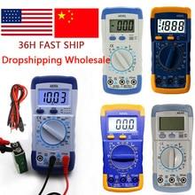 Handheld Digital Multimeter LCD Backlight Portable AC/DC Ammeter Voltmeter Ohm Voltage Tester Meter Multimetro Measurement