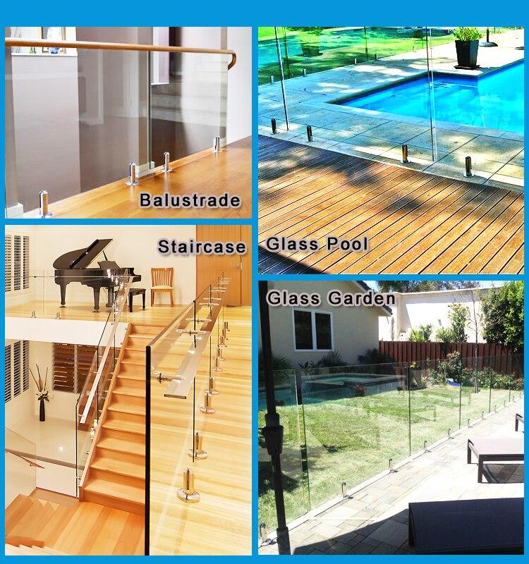 quadrado vidro piscina cerca torneiras para frameless 05