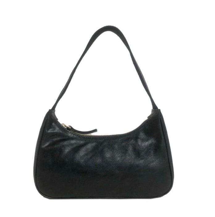 Small Women Vintage Baguette Bag Handbag Soft Leather Subaxillary Shoulder Bag Lady's Small Shoulder Bags Messenger Packs Kendal