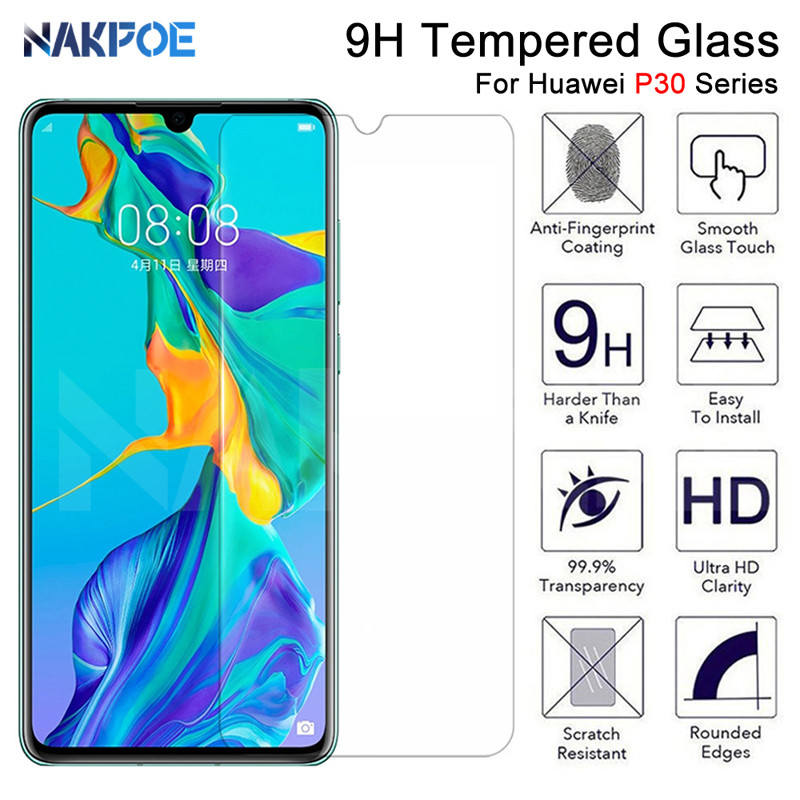 9H Tempered Glass For Huawei P30 Lite P20 Pro P10 Lite Plus Screen Protector Protective Glass On Huawei P Smart 2019 Glass Film