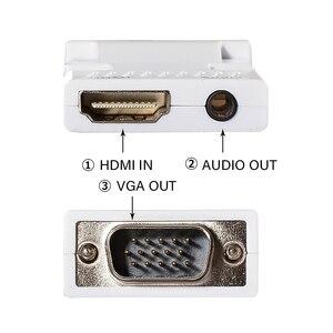 Image 4 - HDMI To VGA Male 3.5 Mm Âm Thanh AUX Cáp Video 1080P FHD Đầu Ra Cho Máy Tính laptop Tivi Màn Hình Máy Chiếu