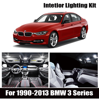 White Bulb LED Car Light Interior Kit For 1990-2013 BMW 3 Series E36 E46 E90 E91 E92 E93 Map Dome Trunk Glove Box Lamp image