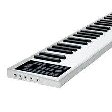 61-ключ Портативный цифровое пианино, Утяжеленный клавиши пианино с внешним Динамик, наушники с Bluetooth и голосовым Функция, миди клавиатуры, сустейн-педаль