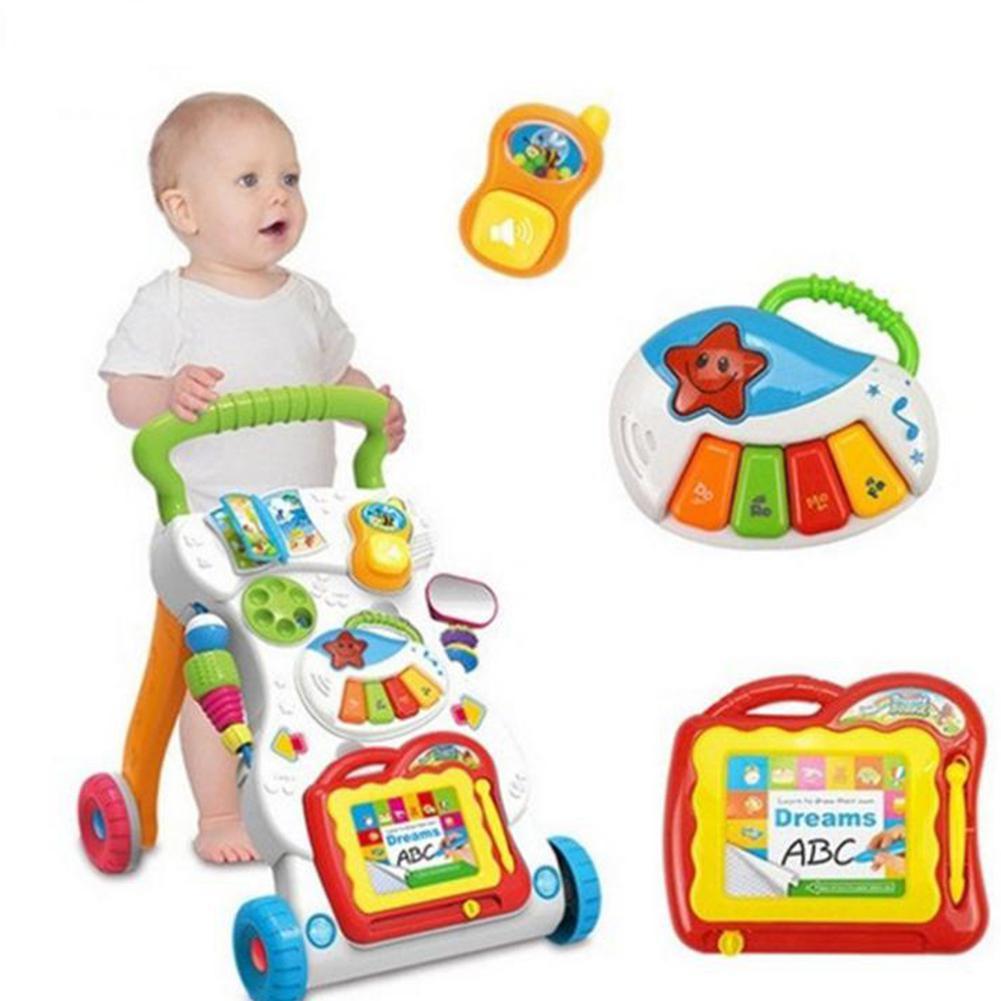 GloryStar Multifunctional Rollover Prevention Baby Activity Walker Cart