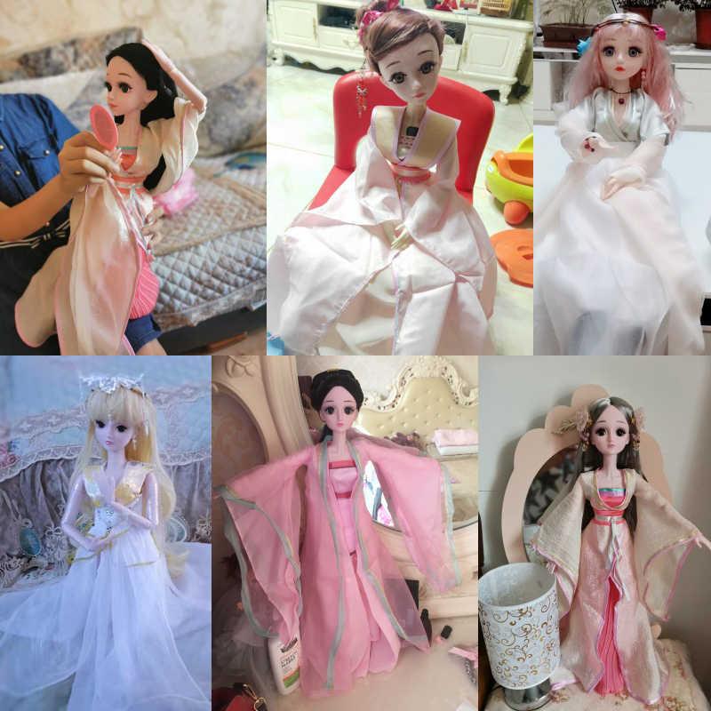 """18 """"roupas de boneca artesanal chinês antigo traje de natal roupas do bebê 1/3 bonecas 60 cm bjd boneca acessórios meninas brinquedos"""
