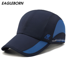 Eagleborn 2017 New Quick Dry Baseball Caps for Men Women casual outdoor sports sun hat waterproof cap Unisex adjustable 8 colors