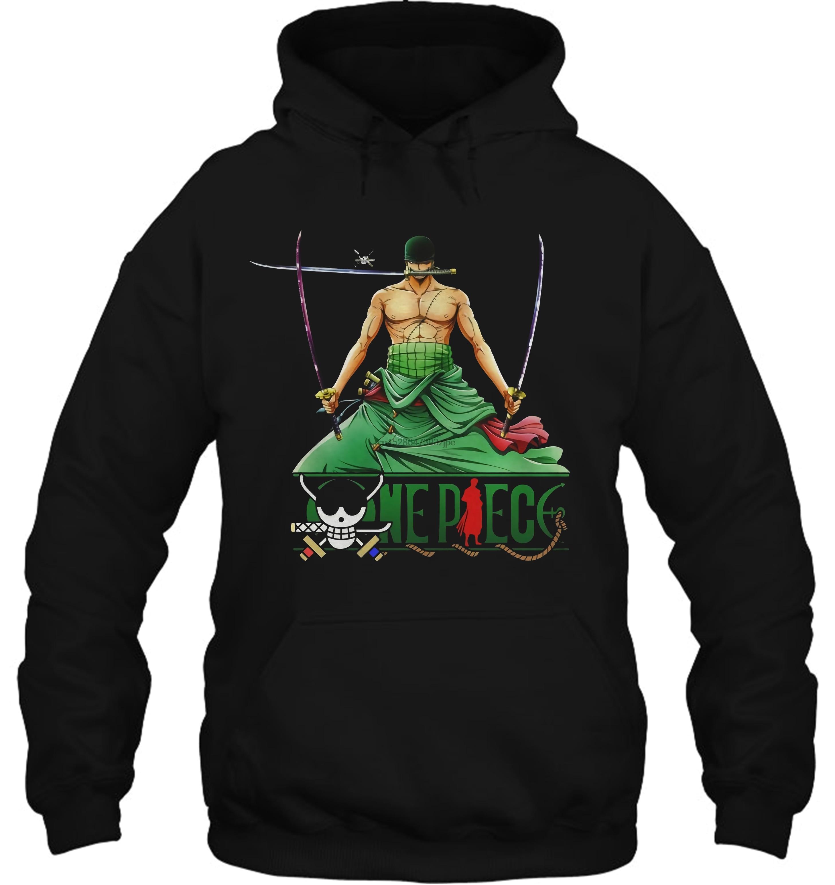 Funny Novelty One Piece Anime Zoro Cool Streetwear Men Women Hoodies Sweatshirts