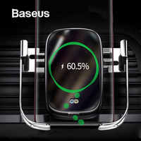 Baseus Qi Car Wireless Charger For iPhone X Xs Max Xr 10W Fast Wireless Charger in Car Holder Car Phone Charger For Huawei P20