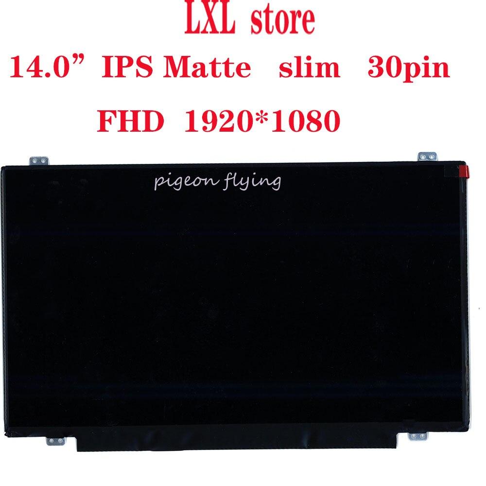 "T440p LCD screen for Thinkpad laptop 20AW 14.0""FHD1920*1080  IPS Matte slim 30pin  LP140WF3 B140HAN01 FRU 00HT622 04X5916 NEW OK"