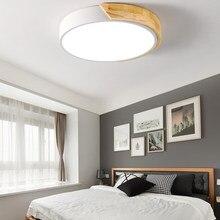 Современный светодиодный потолочный светильник, ультра тонкие деревянные потолочные светильники, светильник для гостиной, кухонный корид...