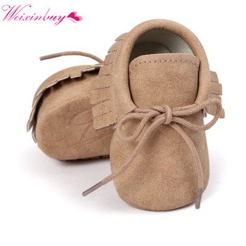 Spring Baby Shoes PU Leather Girls Shoes for Girls Baby Booties Baby Moccasins Fashion Fringe First Walks 0-18M 10 Colors 1