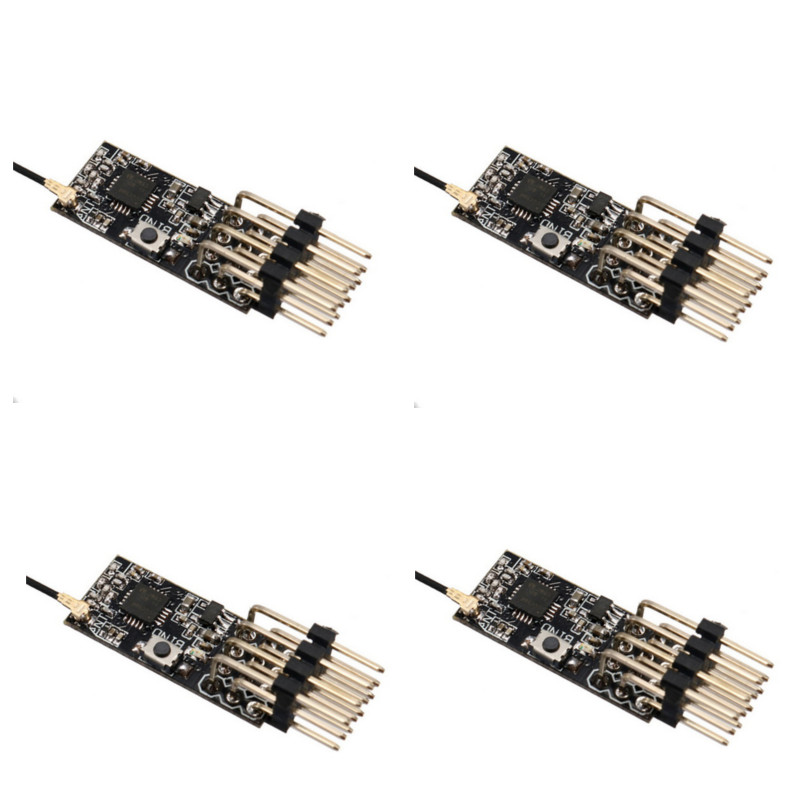 2.4G 4CH Mini Frsky D8 Compatible Receiver With PWM Output For FRSKY DJT/DFT/DHT Transmitter RC FPV Racing Drone