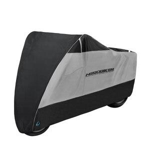 Image 2 - HEROBIKER мотоциклетный чехол для мотоцикла защита от дождя Защита от солнца Пылезащитный Водонепроницаемый дождевик УФ покрытие для скутера велосипеда дождевик Пылезащитный Чехол черный