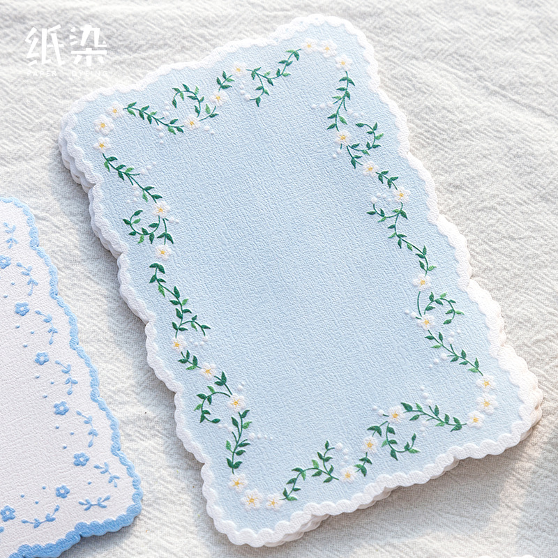 20pcs/pack Garden Series Lace Memo Pad Concave Pattern Note Pads Bookmark Gift Stationery