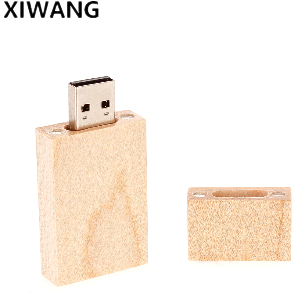 Image 4 - newest style USB flash drive 64gb natural wooden box Pendrive 32GB usb stick 4GB 8GB memory key pen drive 16gb Free custom logo-in USB Flash Drives from Computer & Office
