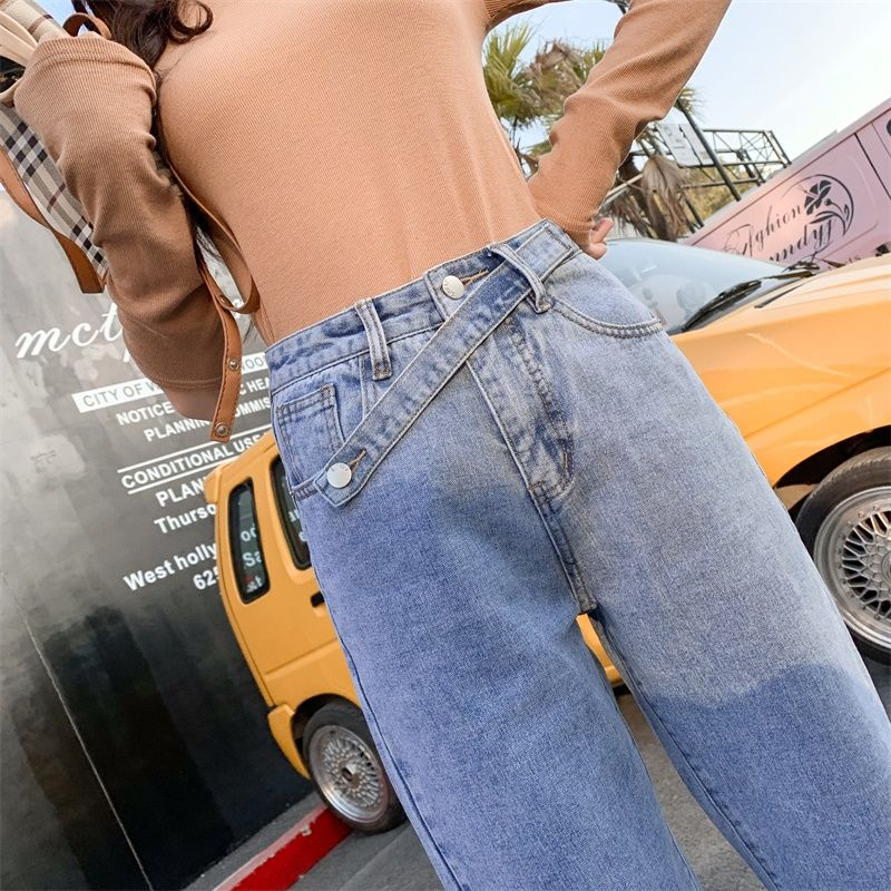 Vintage Wide Leg Jeans For Women Stretch Pants High Waist Casual Long  Denim Female Slim Elastic Streetwear Denim Jean
