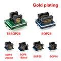 6 шт TSSOP28 SSOP28 SOP28-DIP28 адаптер SOP20 SOP16 SOP8 150mil 200mil для DIP8 адаптер совместимj tssop20 ssop20 tssop8 разъем