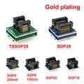 6pcs TSSOP28 SSOP28 SOP28-DIP28 adapter SOP20 SOP16 SOP8 150mil 200mil to DIP8 adapter compatible tssop20 ssop20 tssop8 socket