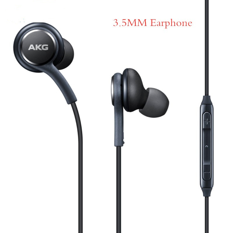 Original For Samsung 3.5mm Earphones  In-ear Wired Mic Volume Control Headset For AKG Galaxy S10 S9 S8 S7 S6 Plus C5 C7 C9 Pro