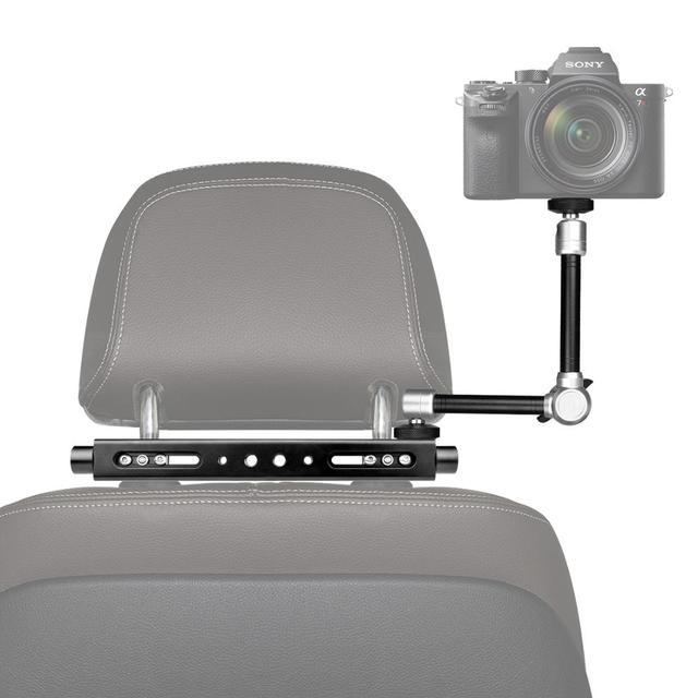 3in1 ماجيك الذراع الثقيلة سيارة مسند الرأس DSLR عمل كاميرا حامل هواتف ذكية جبل التوسع عدة Vlog تلاعب لكانون نيكون GoPro