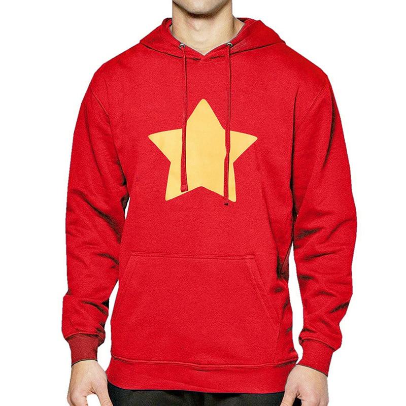 STEVEN UNIVERSE STAR Fashion Print Hoody For Men 2019 Spring Fleece Auutmn Sweatshirts With Hat Streetwear Men's Sportswear Hot