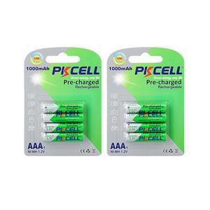 Image 1 - 8PCS PKCELL AAA batterien NI MH aaa Akkus Geringe Selbstentladung AAA vorladung 1,2 v nimh 1000mah batterie