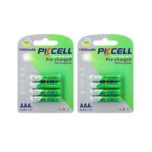8 sztuk PKCELL baterie AAA NI-MH akumulatory aaa niskie samorozładowanie AAA ładowania wstępnego 1.2v nimh 1000mah baterii