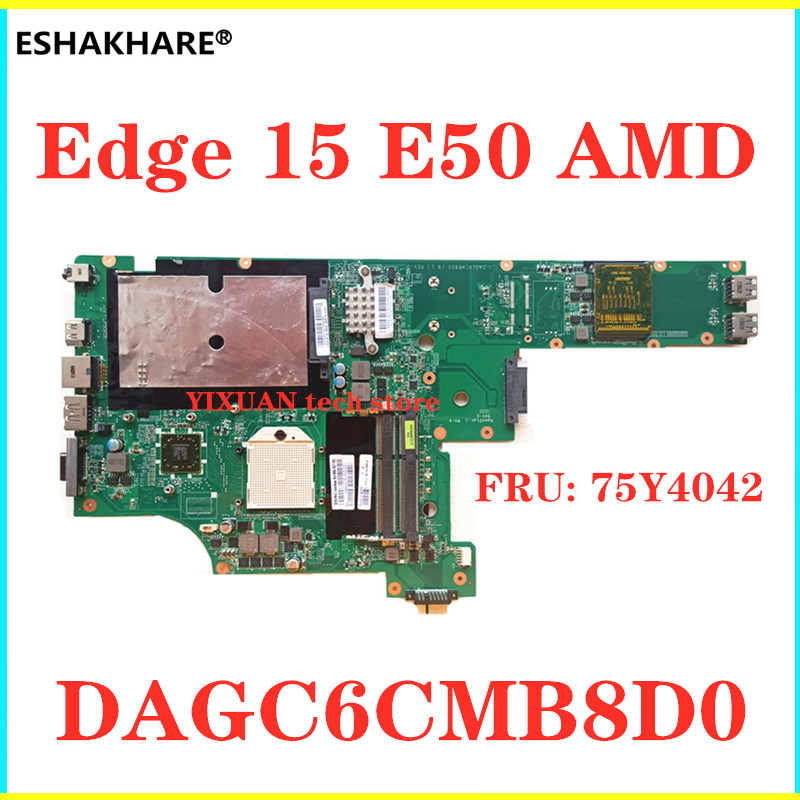 Материнская плата для ноутбука eshachare Lenovo 15 Вт Edge 15 E50 FRU PN: 75Y4042 DAGM6CMB8D0, протестированная материнская плата хорошего качества, бесплатная доста...