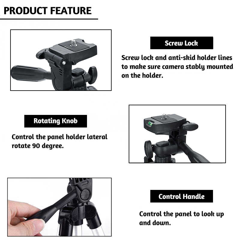 น้ำหนักเบากล้องขาตั้งกล้องขาตั้งโทรศัพท์แบบพกพาเดสก์ท็อปโทรศัพท์มือถือ Tripode สำหรับ iPhone กล้อง Para