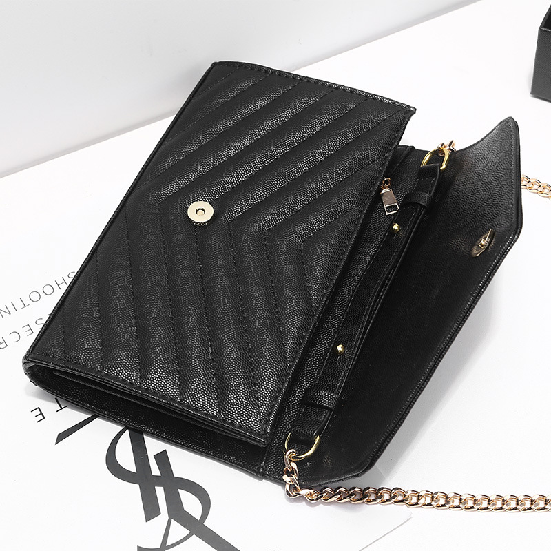 Womens Luxury Designer Envelope Bag Shoulder Bag Chain Flap Crossbody Bag Handbag Clutch For Office Daily