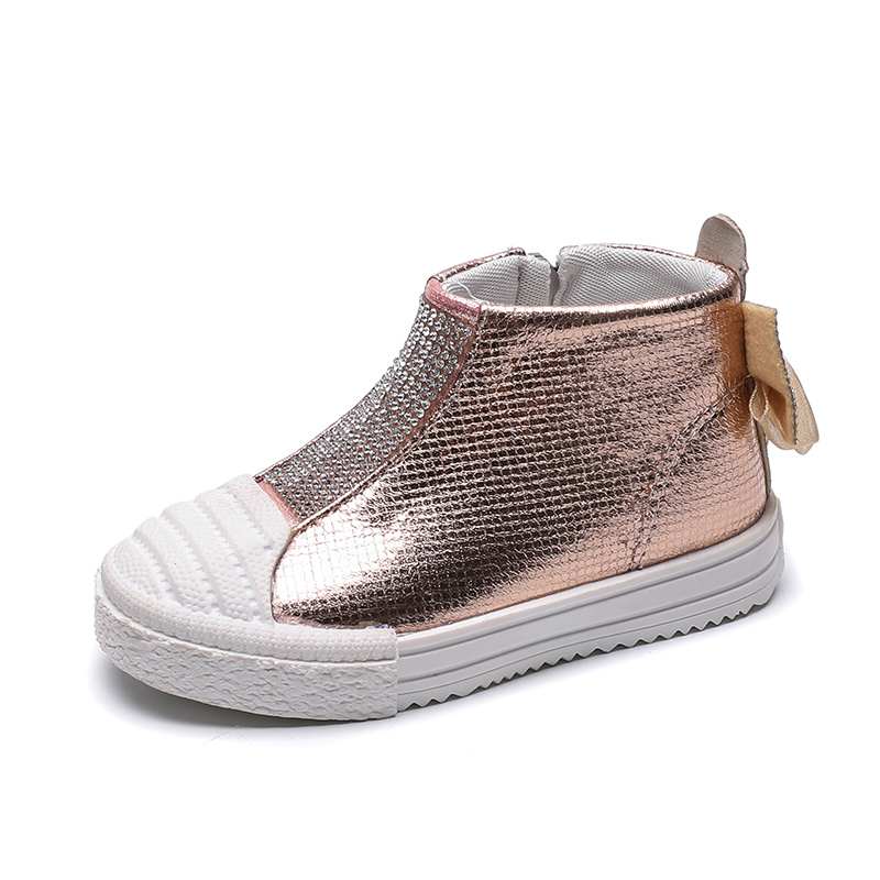 Fashion Boots For Girls Shoes Kids Boots Children Shoes Butterfly Crystals Side Zip Party Wedding Dress Bota Infantil Menina