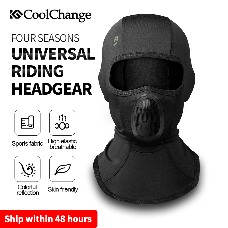 CoolChange Winter Thermal Ski Mask Windproof Cycling Cap Scarf Bicycle Balaclava Fishing Running Sport Bike Face Mask Headwear