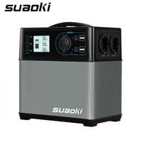 Suaoki 400Wh Portable Solar Power Generator Supply Station Charged  Power Up Electronic Devices Lighting and Jump Starter Cars