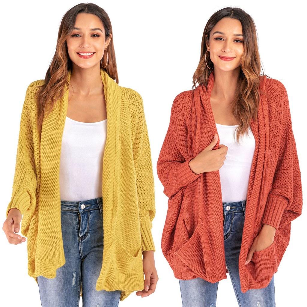 Warm Bat Sleeve Large Size Long Knit Cardigan roupas Feminina Sweater Tricot Open Stitch Fashion Clothes For Female Sweater