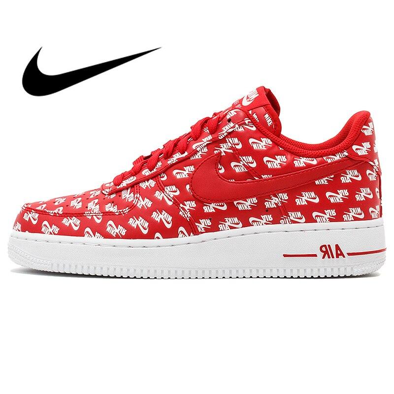 Original authentique Nike Air Force 1 AF1 07 QS tendances de planche à roulettes pour hommes chaussures de sport de plein Air Hip Hop nouveaux produits AH8462