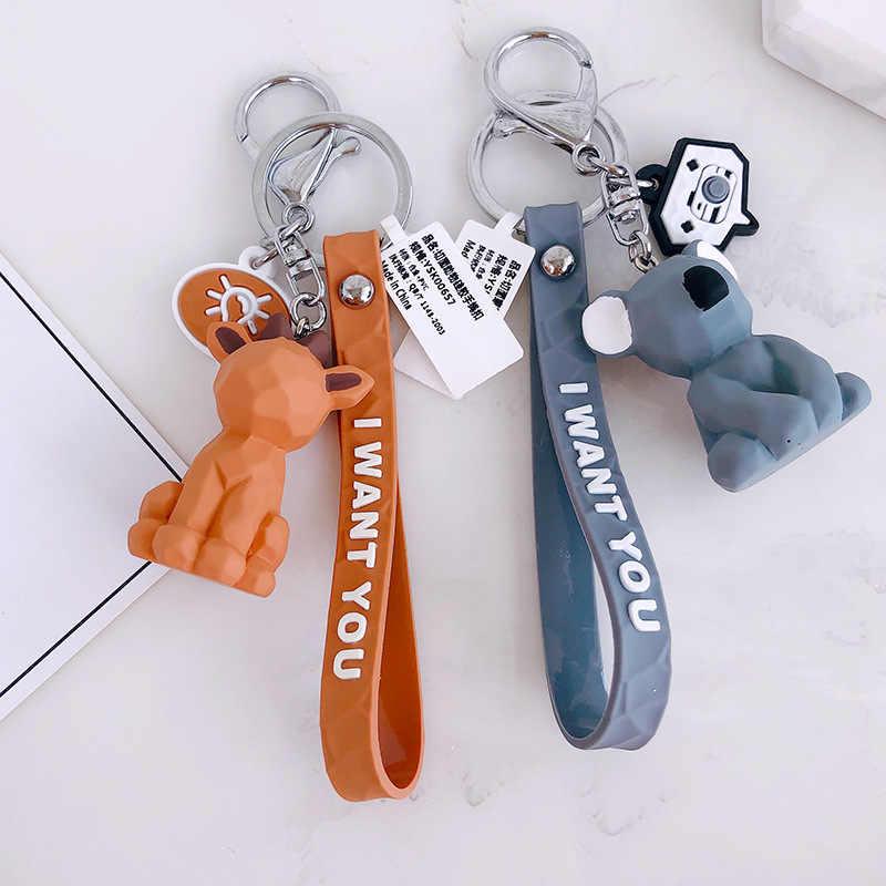 2019 милый мультяшный брелок для ключей маленький динозавр ключевое звено брелок Панда дамская сумка Шарм брелок Подвеска модный подарок