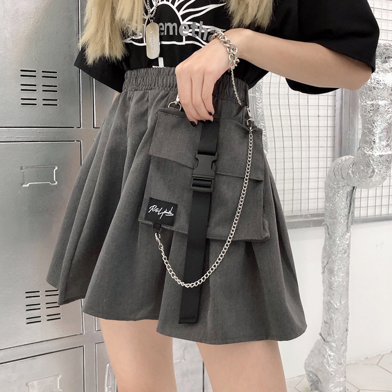 Корейский Ins спецодежды короткая A- Line для женщин новые летние свободные штаны с высокой посадкой модная плиссированная юбка