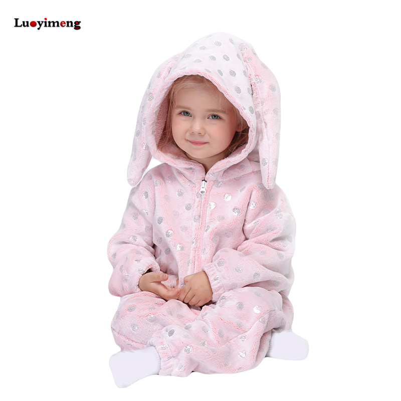 Kigurumi Pajama Rabbit Onesie For Children Animal Unicorn Sleepwear Pyjamas Kids Boys Girls Jumpsuit Winter Warm Flannel Pijama