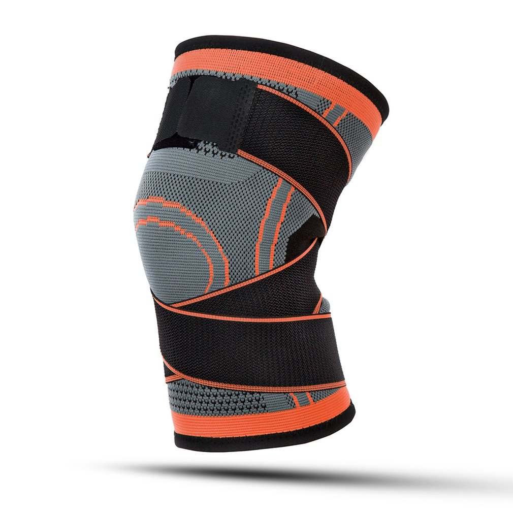 Outdoor Sports Knitted Knee Pads Winding Bandage Pressure Adjustable Running Basketball Riding Fitness Breathable Top Sales