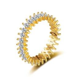 Ataullah Золотое кольцо из стерлингового серебра 925 ювелирные изделия кольца женские украшения с искусственные бриллианты серебро набор колец ...