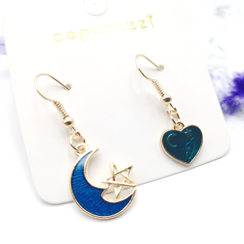 2020 new simple asymmetrical dripping star fashion drop earrings
