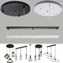 Placa de techo, lámpara colgante, placa base, accesorio de iluminación DIY, múltiples tamaños, negro, blanco, rectángulo, dosel redondo, placa, lámparas, chasis
