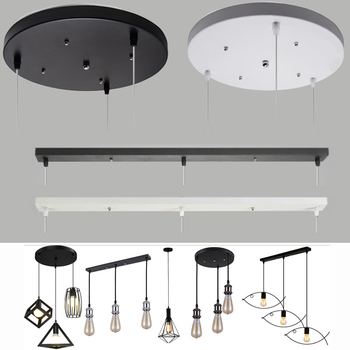 ceiling Plate Pendant lamp base plate lighting accessory DIY Multi sizes Black white round rectangle canopy plate lamps chassis 2 4 10pcs set diy parts edison light pendant lamp part of the ceiling plate d68mm small iron canopy diy pendant ceiling mount