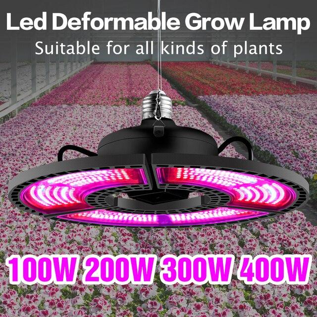 Greenhouse E27 Full Spectrum Plant Grow Led Light 400W Powerful E26 LED Lamp For Seeds Hydro Flower Veg Indoor Garden Phyto Grow